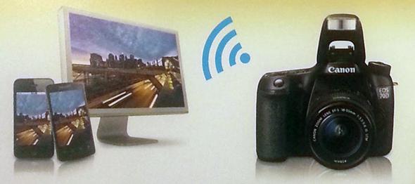 Esempio della funzione Wi-Fi della Canon EOS 70D