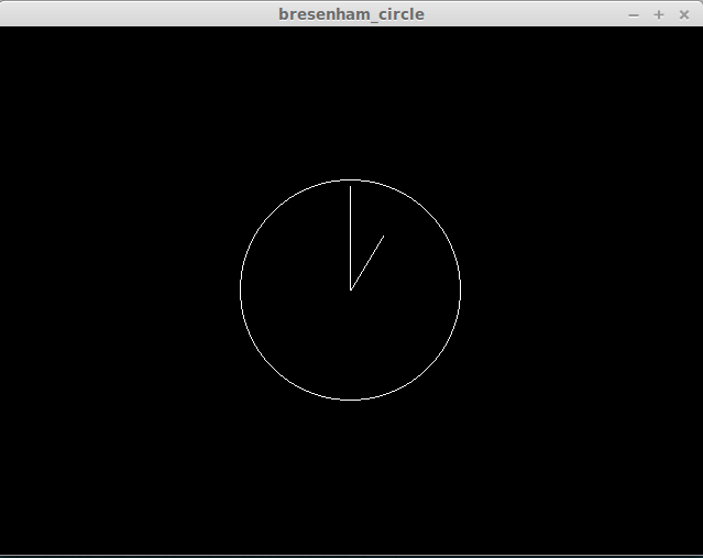 Drawing Lines Xcode : Static clock using bresenham s circle drawing in opengl
