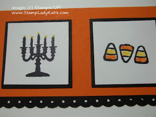 Stamped candelabra image from Stampin'UP!'s Halloween Hello set colored with markers