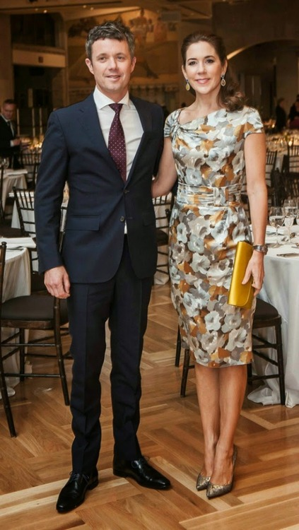 Crown Princess Mary attends a dinner at the Royal Ontario Museum