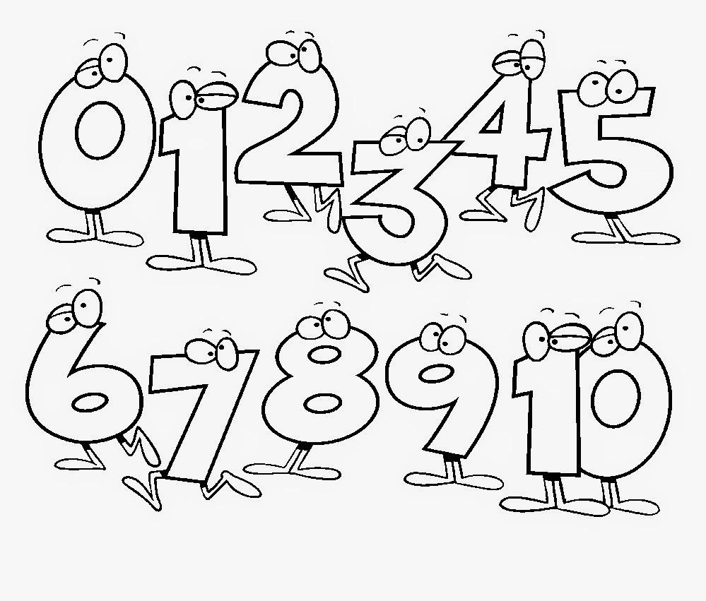Цифры картинки раскраски для детей - 9