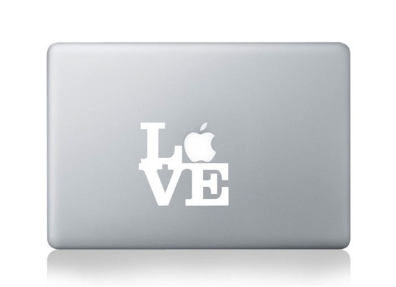 Love MacBook Pro, Mac Air Sticker