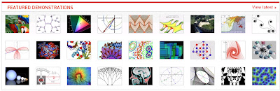 screenshot from Wolfram Demonstrations homepage