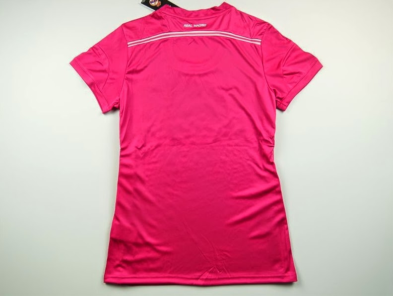 Real Madrid Woman Away Soccer Jersey.Real Madrid Female Pink