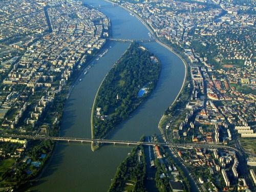 Imágen panorámica de Isla Margarita en Budapest