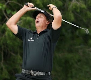 Phil Mickelson during the final round of the U.S. Open on Sunday.