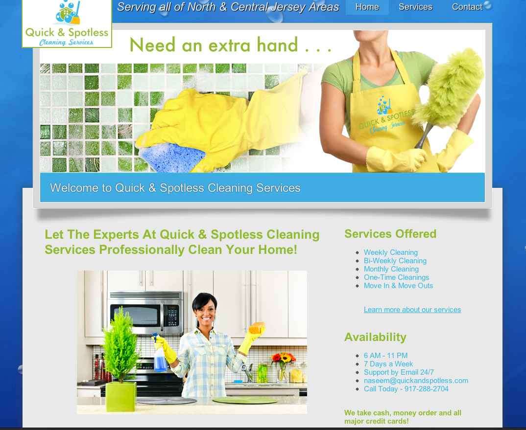 quick and spotless cleaning services nexwrx llp no matter how small your budget or if you purchased a third party website built in application and don t know how to design the site