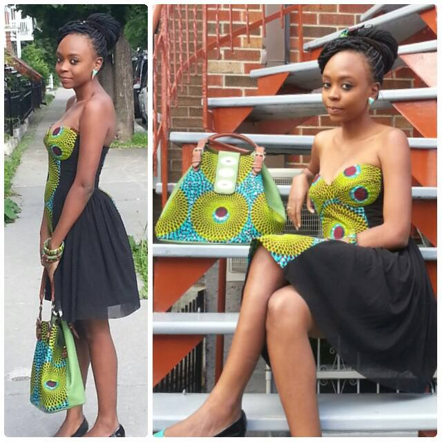 Ankara dress and bags