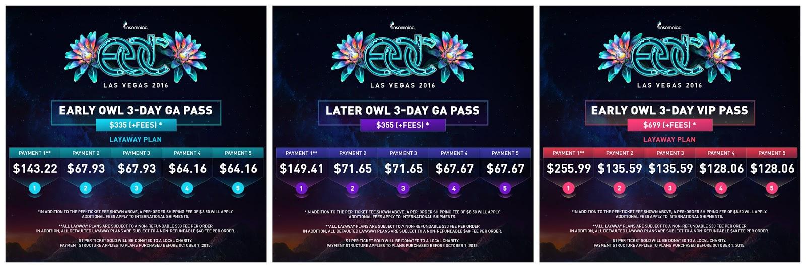 EDC Las Vegas Payment Plans What YOU Need To Know GDE - Edc las vegas map 2016