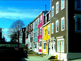 Colourful city of St.John´s
