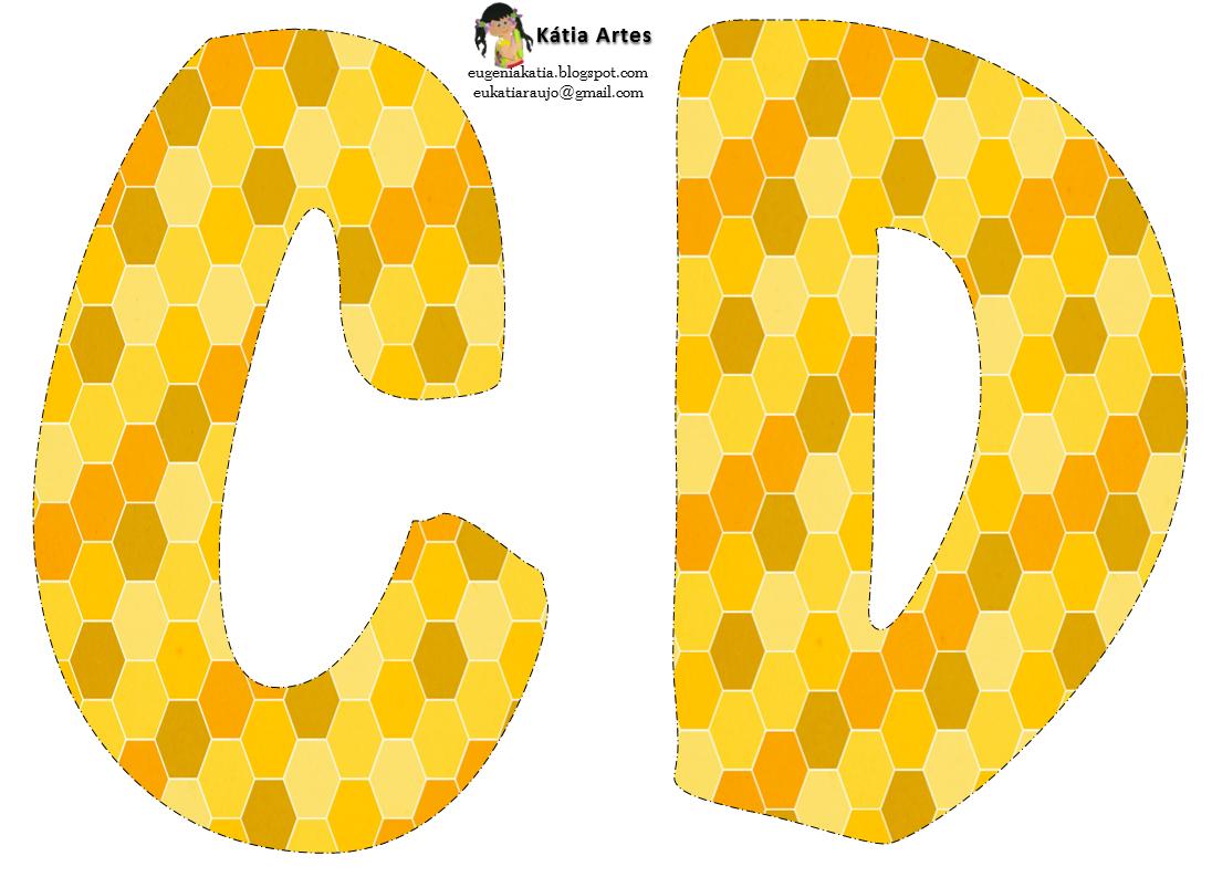 Blog cat lico navide o letras amarillas grandes para for Plantillas letras grandes
