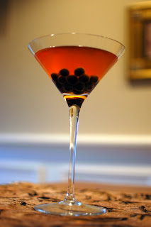 Pumpkin Martini with Tapioca Pearls