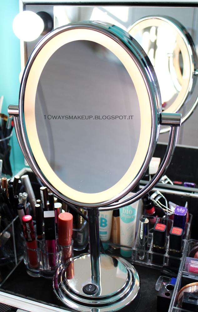 La mia postazione makeup organizzazione consigli spunti 10 ways to wear makeup - Specchio babyliss 8438e ...