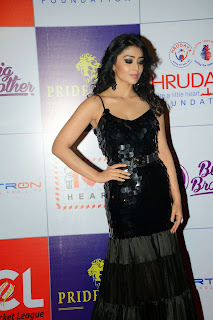 Actress Shriya Saran Latest Picture in Black Long Dress at CCL Charity Dinner 2