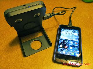 Waka Waka Power Solar Charger and Lantern: Charging a Smartphone