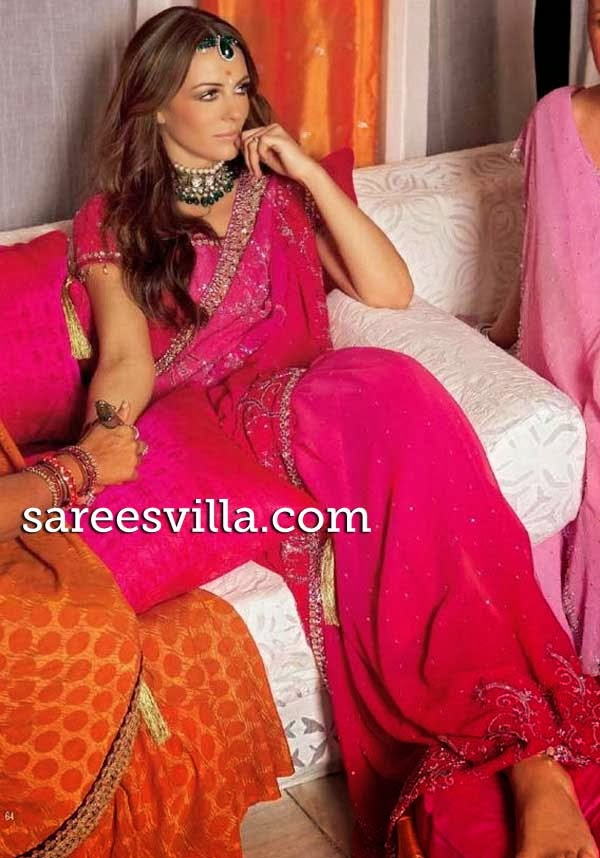 Hollywood celeb in saree