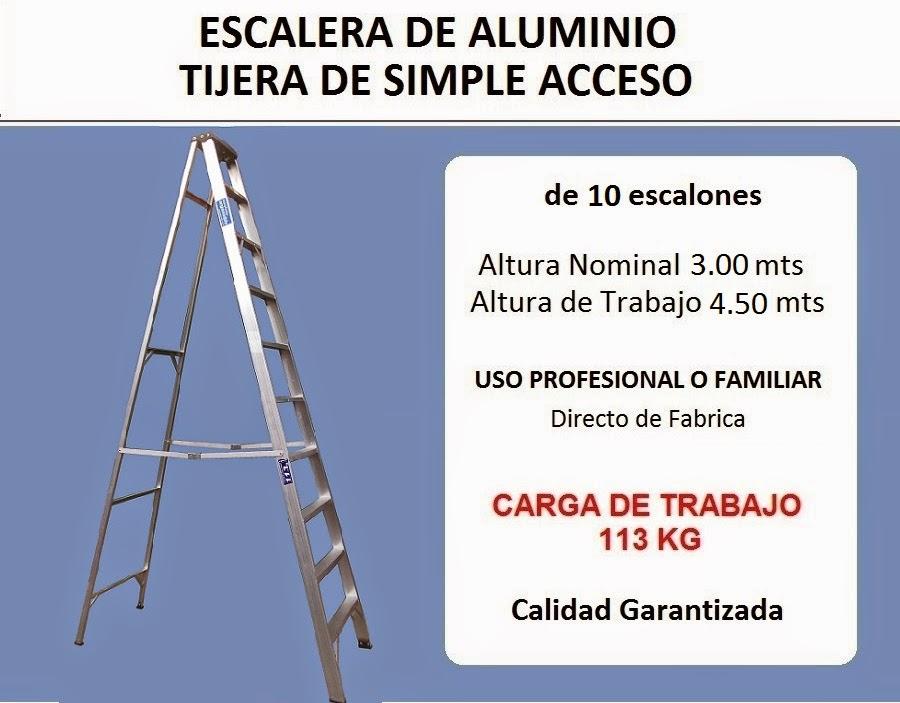 Escaleras monte castro escalera de aluminio tijera de 10 for Escaleras 7 escalones