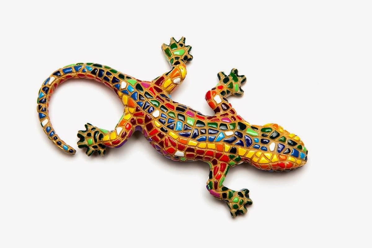 ящерица из Барселоны