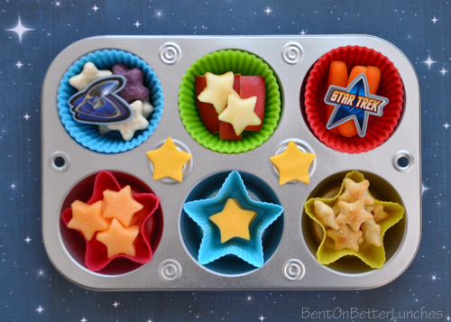 Star Trek muffin tin meal