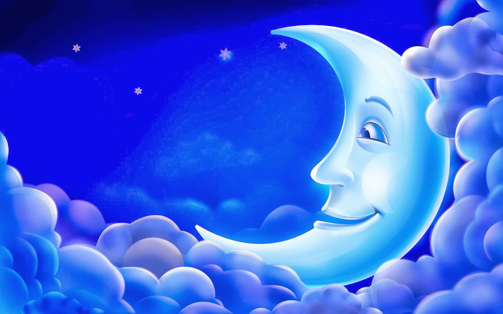 Cartoon Sky with Moon