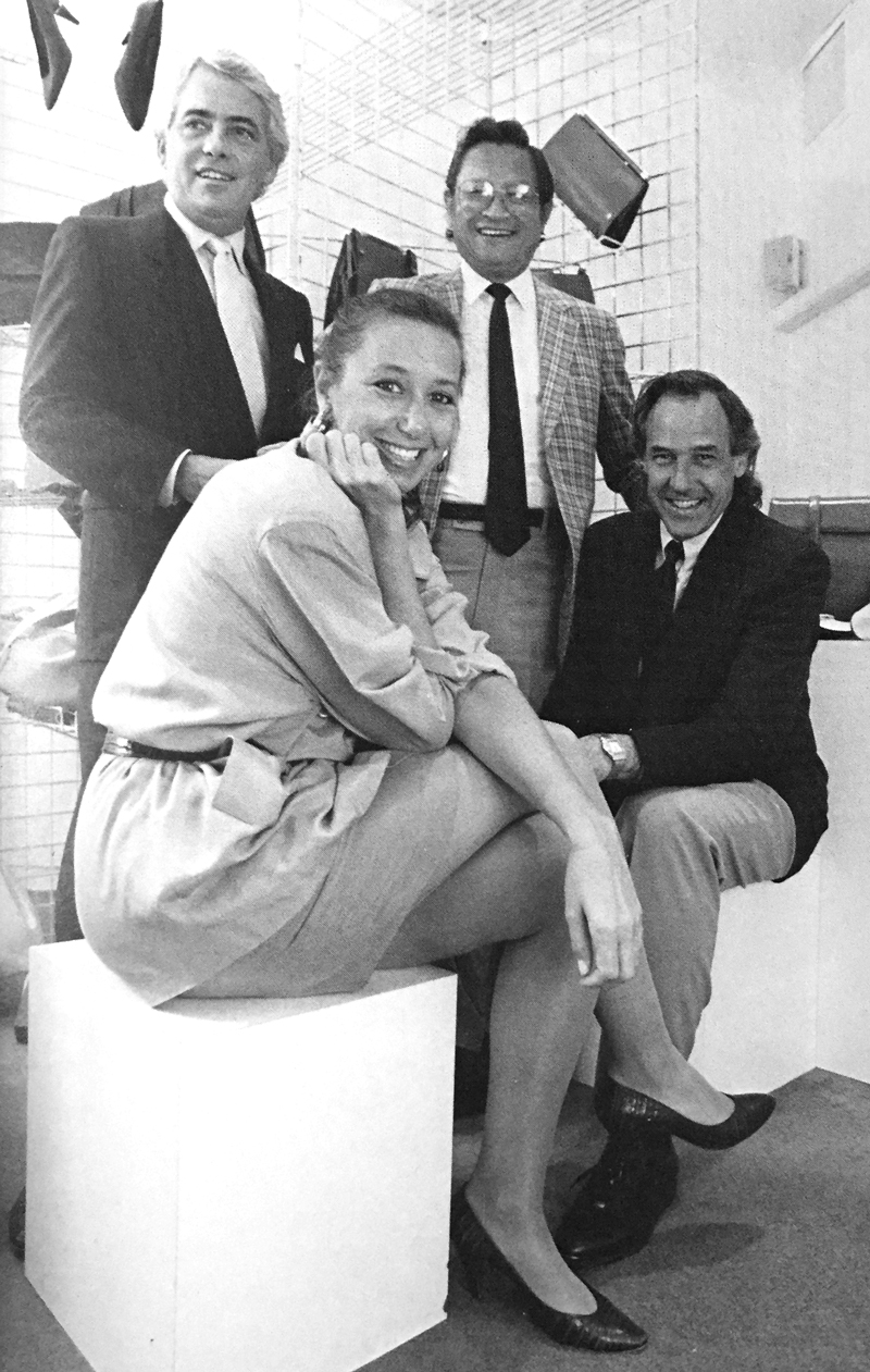 Donna Karan with her husband Stephan Weiss & business partners Frank Mori & Tomio Taki / photo: Fred Conrad