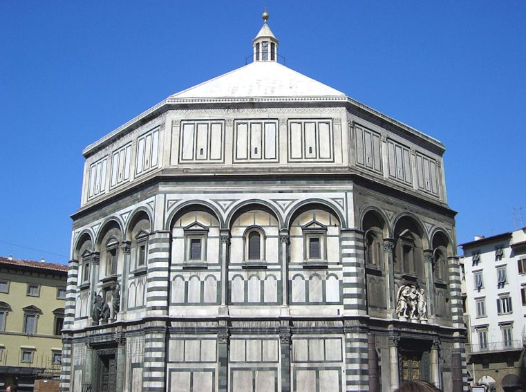 Baptistry in Florence is open during the evening three nights each week