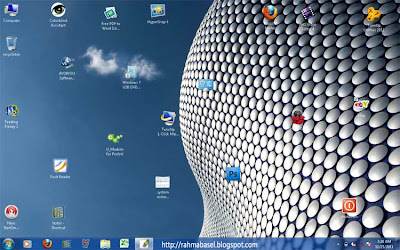 pengaturan desktop icon manual