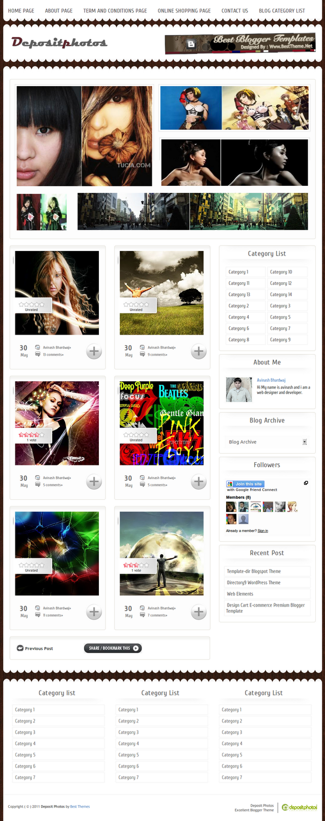 Deposit photos wordpress theme