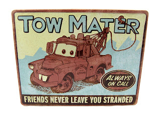 cars mater tin sign