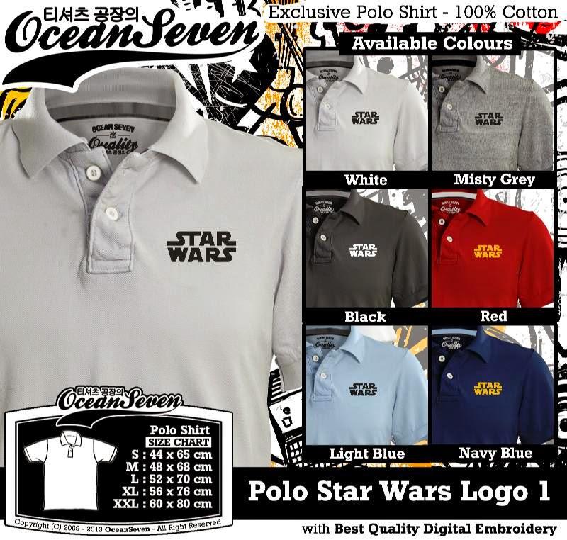 Kaos Polo Star Wars Logo 1