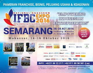 26-28Agustus : SEMARANG FRANCHISE EXPO #IFBC2016 di Gedung Wanita Semarang