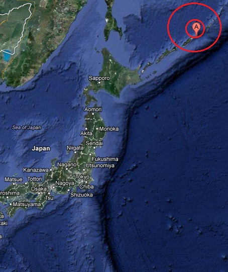 kuril islands earthquake 2013 April 19