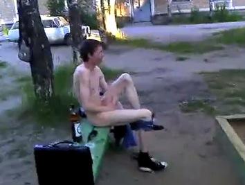 Man Streaking In Public