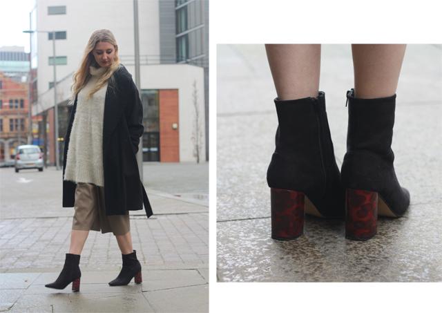 tortoise heel boots high street