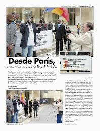 Desde París carta a los lectores de Bajo El Volcán