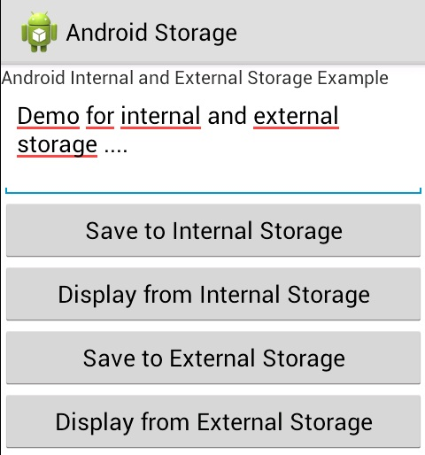 android internal external storage example