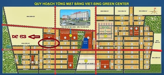 Bán đất Việt Sing , Block DC 63 giá gốc