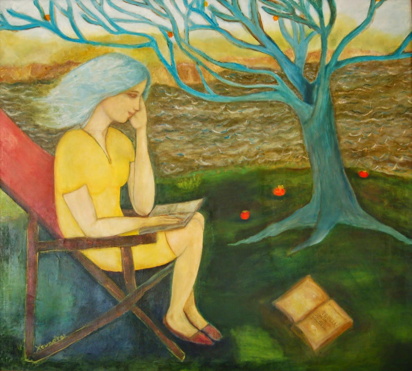 un verano, un lago ventoso, el paisaje ideal para leer....