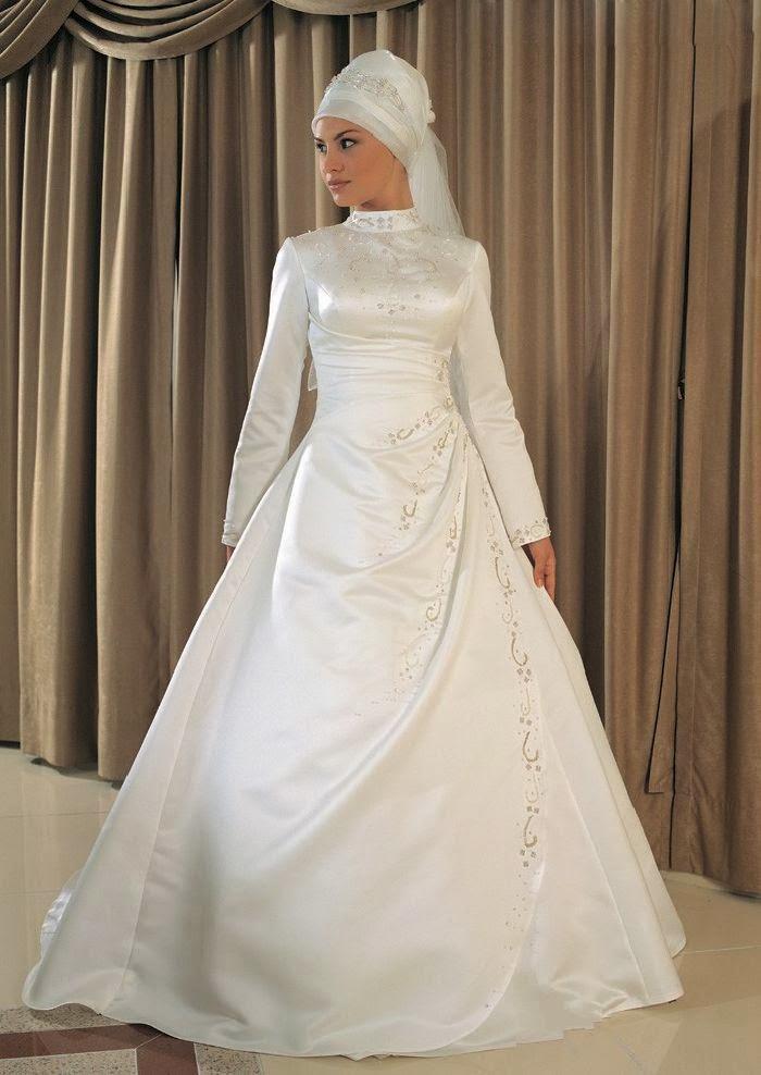 Gaun Pengantin Muslimah Moden   Terdapat pelbagai pilihan dan fesyen ...