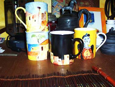 Bomboniere tazze fantasy - da quadri di Stefania Manca