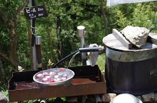 豆焼沢からの水