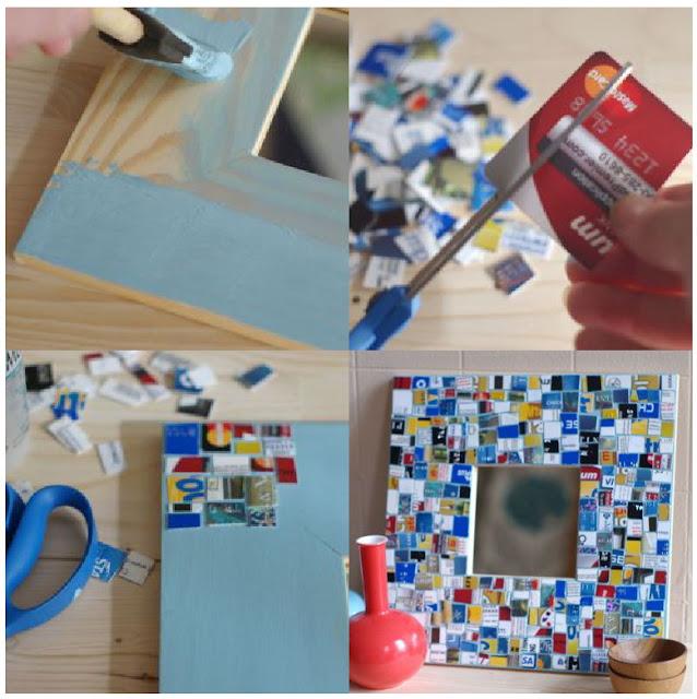 Manualidades Revive tus viejos portaretratos reciclando tarjetas!