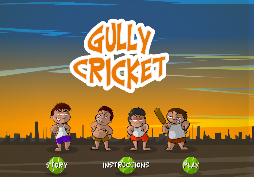Gully Cricket Game online,