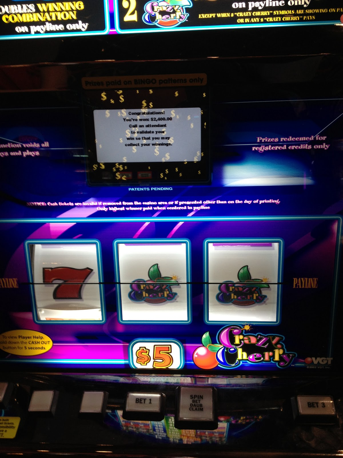 vgt slot machine