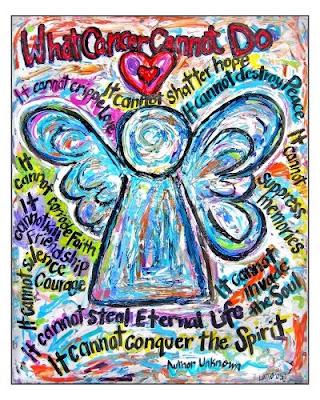 Colorful Cancer Angel Art Print Received by Cervical Cancer Survivor