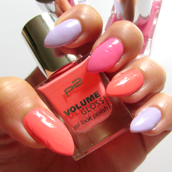 p2 Volume Gloss Gel Look Polish Nagellacke in Pastell NOTD Nail of the day