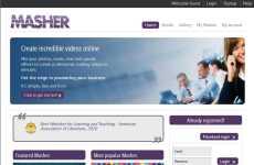 Crear videos online mezclando fotos, música, texto y efectos especiales: Masher