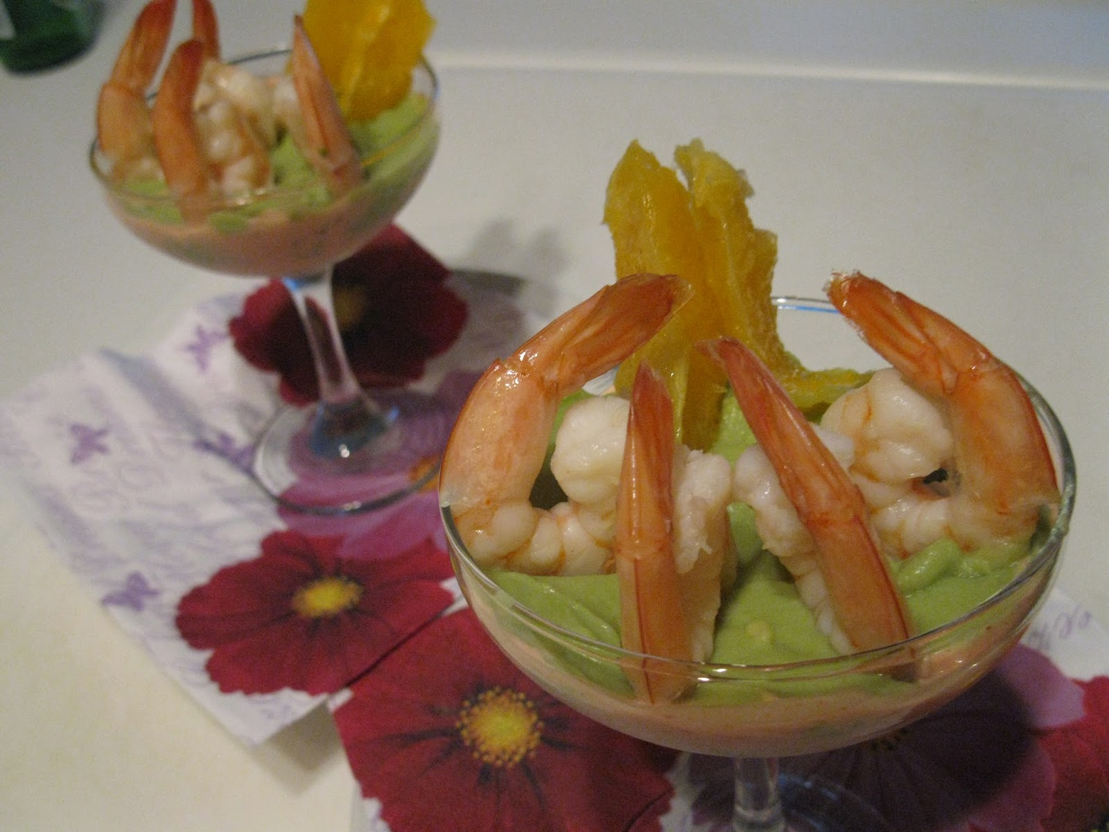 Cocktail de crevettes et avocat for Cocktail de crevettes