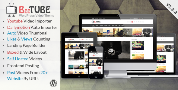 BeeTube v2.3.3 - ThemeForest Video WordPress Theme