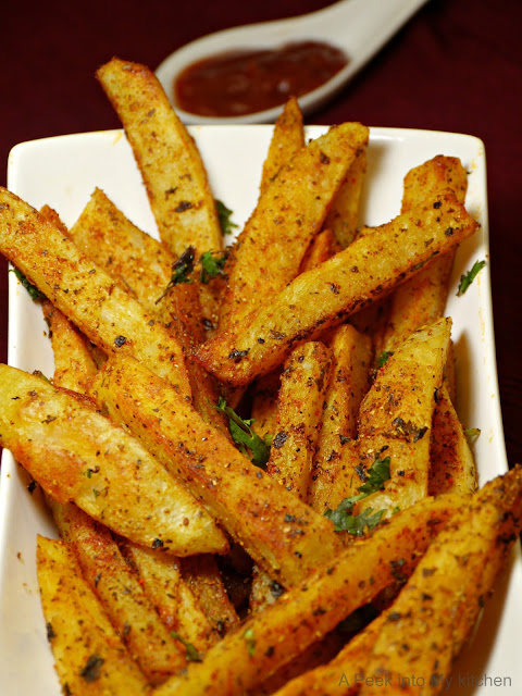 Baked Masala French Fries ~ Day 10